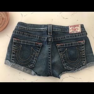 True religion jean shorts size 30.